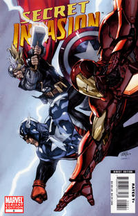 Cover for Secret Invasion (Marvel, 2008 series) #6 [Leinil Francis Yu Variant Cover]