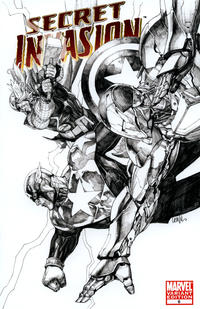 Cover Thumbnail for Secret Invasion (Marvel, 2008 series) #6 [Leinil Yu Variant Sketch Cover]