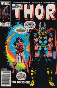 Cover Thumbnail for Thor (Marvel, 1966 series) #336 [Newsstand Edition]