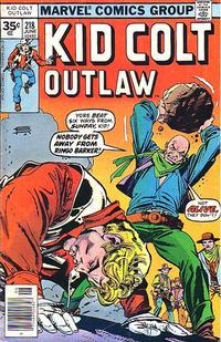 Cover Thumbnail for Kid Colt Outlaw (Marvel, 1949 series) #218 [35c Variant]