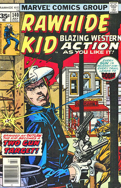 Cover for The Rawhide Kid (Marvel, 1960 series) #140 [35 cent cover price variant]