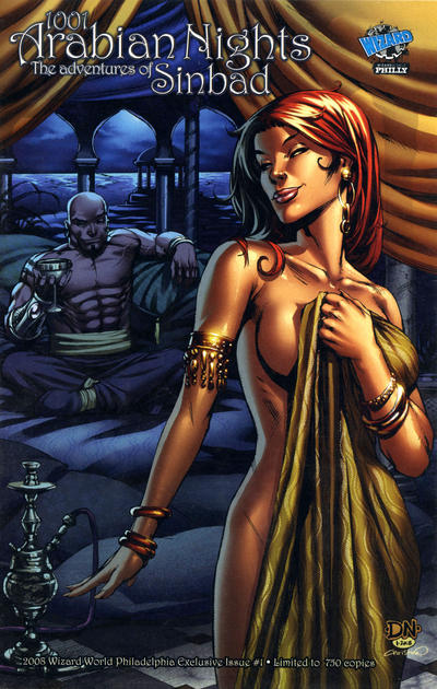 Cover for 1001 Arabian Nights: The Adventures of Sinbad (Zenescope Entertainment, 2008 series) #1 [Cover B - Talent Caldwell]