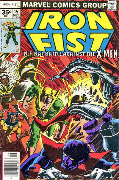Cover for Iron Fist (Marvel, 1975 series) #15 [35 cent cover price variant]