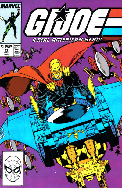 Cover for G.I. Joe, A Real American Hero (Marvel, 1982 series) #87 [Newsstand Edition]