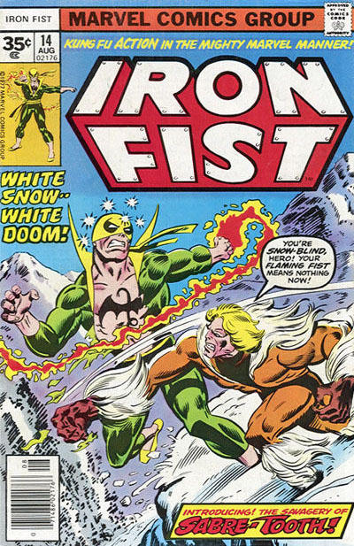 Cover for Iron Fist (Marvel, 1975 series) #14 [30¢ Cover Price]
