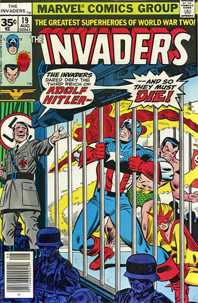 Cover for The Invaders (Marvel, 1975 series) #19 [35 cent cover price variant]
