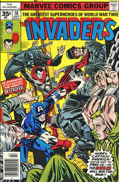 Cover for The Invaders (Marvel, 1975 series) #18 [30 cent cover price]