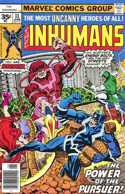 Cover for The Inhumans (Marvel, 1975 series) #11 [30¢ Cover Price]