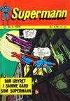 Cover for Supermann (Illustrerte Klassikere / Williams Forlag, 1969 series) #9/1974