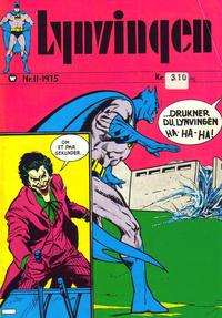 Cover Thumbnail for Lynvingen (Illustrerte Klassikere / Williams Forlag, 1969 series) #11/1975