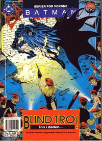 Cover Thumbnail for Batman - Nattens Ridder (Semic, 1992 series) #[3] - Blind tro!