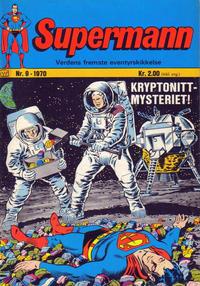 Cover Thumbnail for Supermann (Illustrerte Klassikere / Williams Forlag, 1969 series) #9/1970