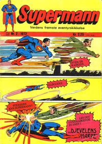 Cover Thumbnail for Supermann (Illustrerte Klassikere / Williams Forlag, 1969 series) #2/1972