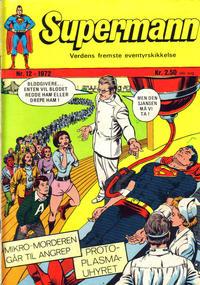 Cover Thumbnail for Supermann (Illustrerte Klassikere / Williams Forlag, 1969 series) #12/1972