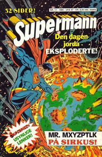 Cover Thumbnail for Supermann (Semic, 1985 series) #11/1985
