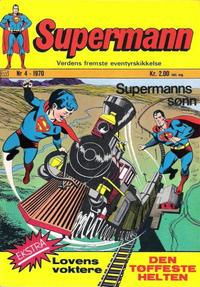 Cover Thumbnail for Supermann (Illustrerte Klassikere / Williams Forlag, 1969 series) #4/1970