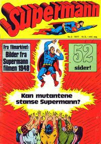 Cover Thumbnail for Supermann (Semic, 1977 series) #3/1977