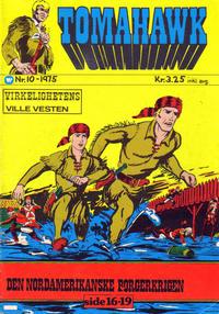 Cover Thumbnail for Tomahawk (Illustrerte Klassikere / Williams Forlag, 1969 series) #10/1975