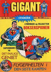Cover Thumbnail for Gigant (Illustrerte Klassikere / Williams Forlag, 1969 series) #3/1970
