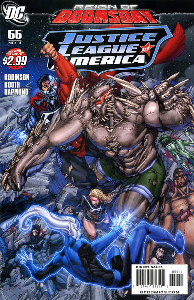 Cover for Justice League of America (DC, 2006 series) #55 [Dan Jurgens Variant Cover]