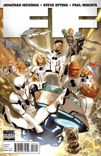 Cover for FF (Marvel, 2011 series) #1 [Blank Variant]