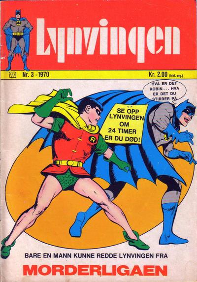Cover for Lynvingen (Illustrerte Klassikere / Williams Forlag, 1969 series) #3/1970