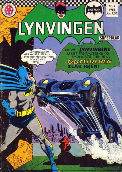 Cover for Lynvingen (Serieforlaget / Se-Bladene / Stabenfeldt, 1966 series) #2/1968