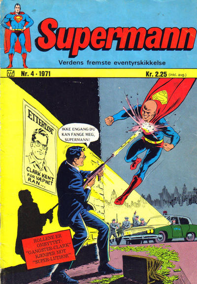 Cover for Supermann (Illustrerte Klassikere / Williams Forlag, 1969 series) #4/1971