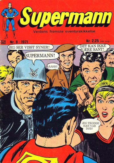 Cover for Supermann (Illustrerte Klassikere / Williams Forlag, 1969 series) #8/1971