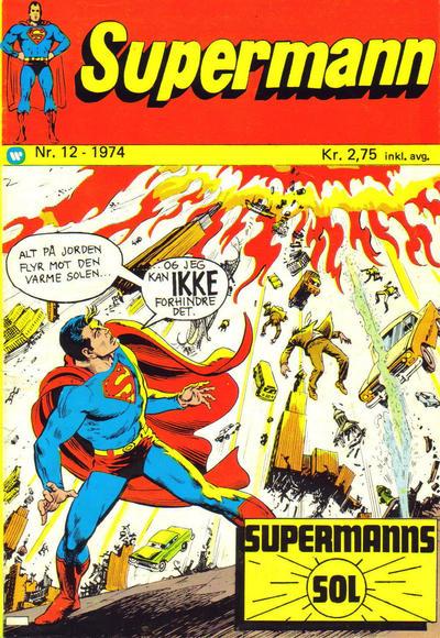 Cover for Supermann (Illustrerte Klassikere / Williams Forlag, 1969 series) #12/1974
