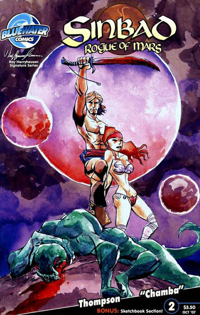 Cover for Sinbad: Rogue of Mars (Bluewater / Storm / Stormfront / Tidalwave, 2007 series) #2 [Cover A]