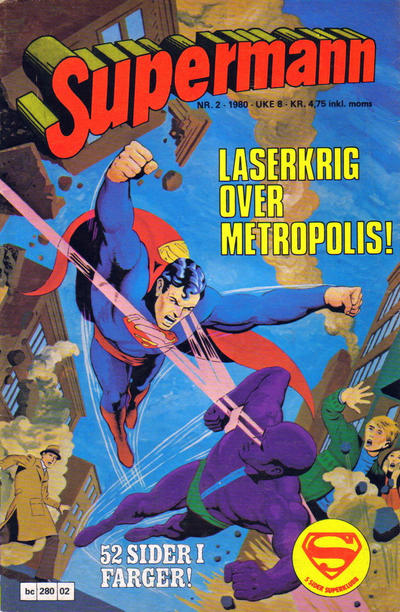Cover for Supermann (Semic, 1977 series) #2/1980