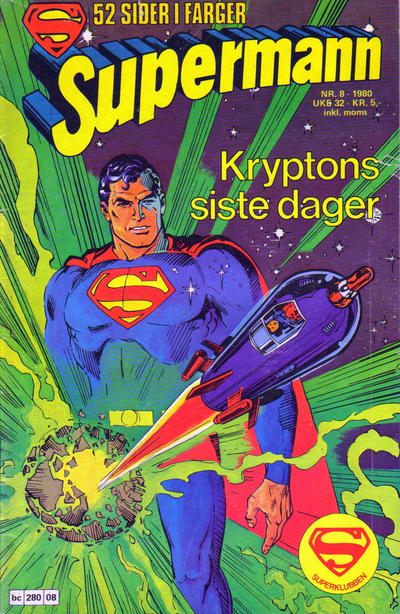 Cover for Supermann (Semic, 1977 series) #8/1980