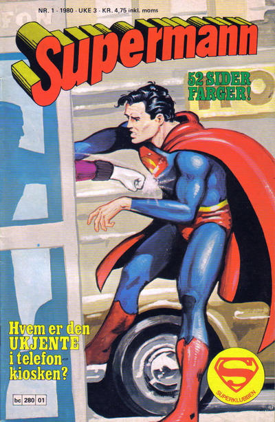 Cover for Supermann (Semic, 1977 series) #1/1980