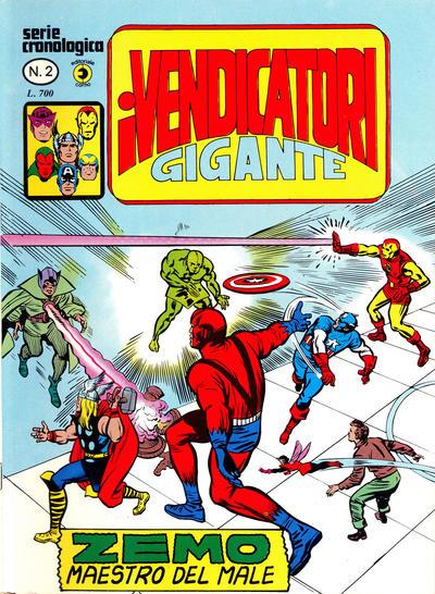 Cover for I Vendicatori Gigante (Editoriale Corno, 1980 series) #2
