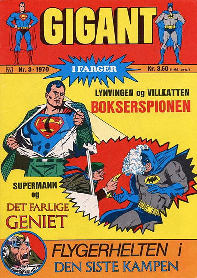 Cover for Gigant (Illustrerte Klassikere / Williams Forlag, 1969 series) #3/1970