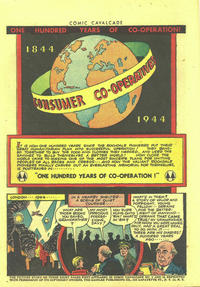 """Cover Thumbnail for Comic Cavalcade """"One Hundred Years of  Co-Operation"""" (DC, 1944 series)"""