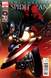 Cover Thumbnail for The Amazing Spider-Man (Marvel, 1999 series) #656 [Captain America Variant]