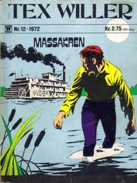 Cover Thumbnail for Tex Willer (Illustrerte Klassikere / Williams Forlag, 1971 series) #12/1972
