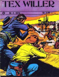 Cover Thumbnail for Tex Willer (Illustrerte Klassikere / Williams Forlag, 1971 series) #4/1974