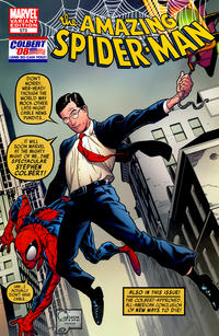 Cover Thumbnail for The Amazing Spider-Man (Marvel, 1999 series) #573 [Stephen Colbert Variant Cover]