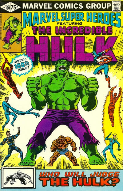 Cover for Marvel Super-Heroes (Marvel, 1967 series) #100 [Newsstand]