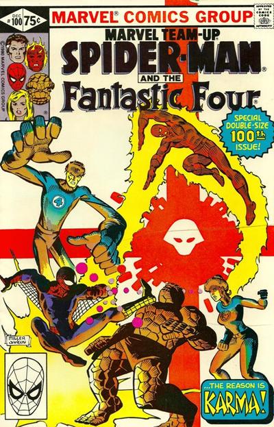 Cover for Marvel Team-Up (Marvel, 1972 series) #100 [Direct]