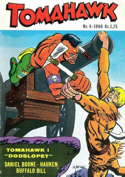 Cover for Tomahawk (Serieforlaget / Se-Bladene / Stabenfeldt, 1965 series) #4/1966