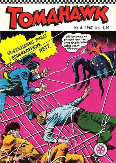 Cover for Tomahawk (Serieforlaget / Se-Bladene / Stabenfeldt, 1965 series) #4/1967