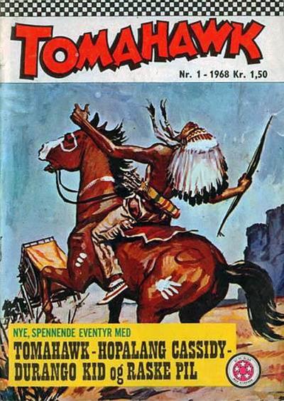 Cover for Tomahawk (Serieforlaget / Se-Bladene / Stabenfeldt, 1965 series) #1/1968