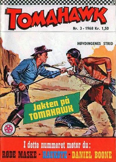 Cover for Tomahawk (Serieforlaget / Se-Bladene / Stabenfeldt, 1965 series) #3/1968
