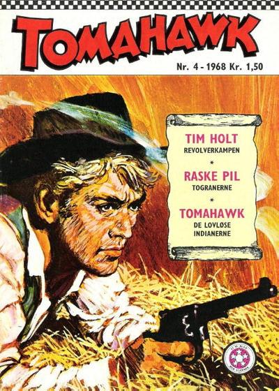 Cover for Tomahawk (Serieforlaget / Se-Bladene / Stabenfeldt, 1965 series) #4/1968