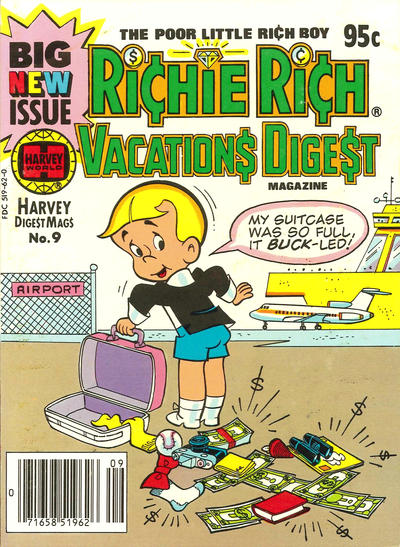 Cover for Richie Rich Vacations Digest (Harvey, 1977 series) #9