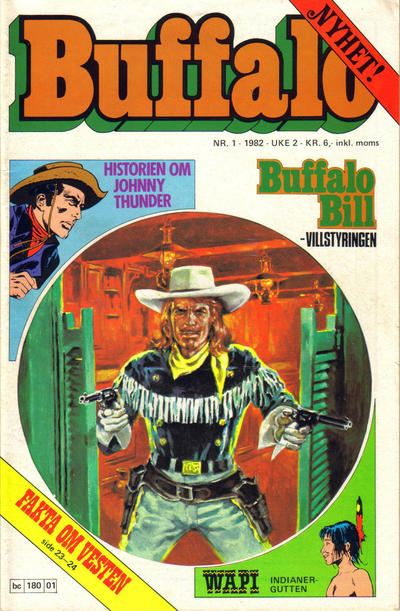 Cover for Buffalo (Semic, 1982 series) #1/1982